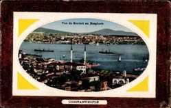 Präge Passepartout Ak Konstantinopel Istanbul Türkei, Vue de Scutari, Bosphore