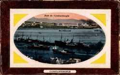 Präge Passepartout Ak Konstantinopel Istanbul Türkei, Port
