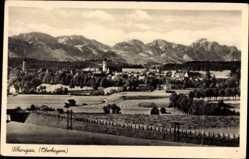 Postcard Schongau in Oberbayern, Gesamtansicht des Ortes