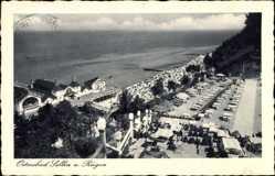 Postcard Ostseebad Sellin auf Rügen, Blick auf den Strand und die Terrasse