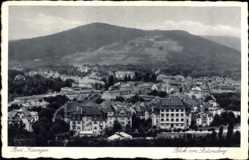 Postcard Bad Kissingen Unterfranken Bayern, Blick vom Stationsberg auf den Berg