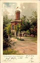 Künstler Litho Wunderlich, H., Karlovy Vary Karlsbad Stadt, Franz Josephshöhe