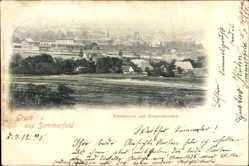 Ak Lubsko Sommerfeld Ostbrandenburg, Totalansicht vom Bergschlösschen