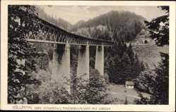 Postcard Breitnau bad. Schwarzwald, Ravennaschlucht mit Viadukt, Höllental