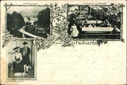 Postcard Sulzbach Lautenbach Ortenaukreis, Renchthaltracht, Terrasse
