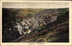 Postcard Monschau Montjoie in der Eifel, Blick vom Berg auf den Ort