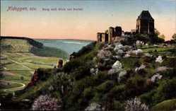 Postcard Nideggen in der Eifel, Blick von der Burg in das Ruhrtal