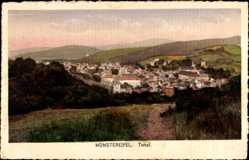 Postcard Bad Münstereifel in Nordrhein Westfalen, Totalansicht des Ortes
