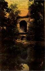 Postcard Schwetzingen, Ruine eines römischen Wasserkastells, Eingang, Tor