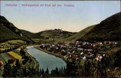 Postcard Neckargemünd Neckartal, Blick auf den Dilsberg, Stadtpanorama, Flusspartie
