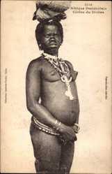 Ansichtskarte / Postkarte Afrique Occidentale Francaise, Cérère du Diobas, Afrikanerin, Barbusig