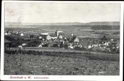Postcard Dettelbach Main, Stadtpanorama, Glockenturm, Häuser, Felder, Wiese