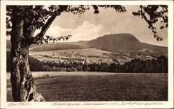 Postcard Kleinsassen Hofbieder, Rhön, Milseburg, Blick vom Korhof, Turm