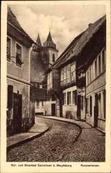 Postcard Salzelmen Schönebeck an der Elbe im Salzlandkreis, Die Rosmarienstraße