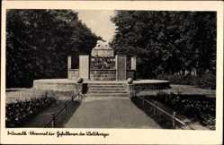 Postcard Pritzwalk Prignitz, Ehrenmal der Gefallenen des Weltkrieges