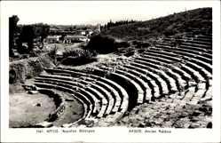 Postcard Argos Griechenland, Ancien Théâtre, Antikes Theater