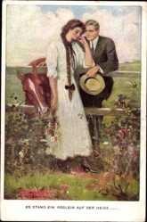 Künstler Ak Underwood, C., Es stand ein Röslein auf der Heide, Munk 834 C