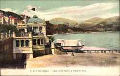 Postcard Donostia San Sebastián Baskenland, Caseta de Banos y Palacio Real
