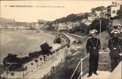 Postcard Donostia San Sebastián Baskenland, Vista desde el Palacio de Miramar