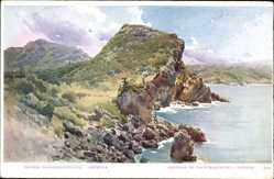 Künstler Ak Paleokastritza Korfu Griechenland, An der Küste, Felsen