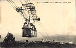Postcard Donostia San Sebastián Baskenland, Monte Ulia, Tranvia Aereo