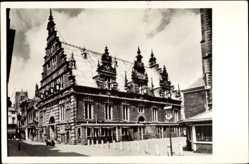 Postcard Haarlem Niederlande, Blick auf Vleeshal, Gotisches Stadthaus