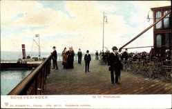 Postcard Scheveningen Den Haag Südholland, Op het Wandelhoofd