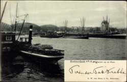 Postcard Rotterdam Südholland Niederlande, Gezicht op de Maas, Blick in den Hafen