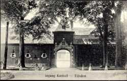 Postcard Eijsden Limburg Niederlande, Ingang Kasteel, Burgeingang