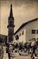 Postcard Fuenterrabia Baskenland, Na Sa de Guadelupe Solida de los peregrinos