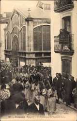 Postcard Fuenterrabia Baskenland, La Procession du Vendredi Saint