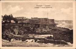 Postcard Cascaes Cascais Portugal, Cidadella e estacao Semaforica, Festung