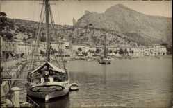 Postcard Soller Mallorca Balearische Inseln, Hafenpartie mit Umgebung
