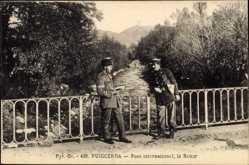 Postcard Puigcerda Katalonien, Pont international, la Raour
