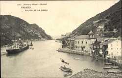 Postcard Pasaia Pasajes Baskenland, Salida de la Bahia, Hafen, Dampfer