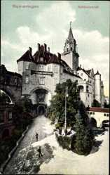 Postcard Sigmaringen Württemberg, Blick auf das Schlossportal