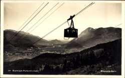 Postcard Garmisch Partenkirchen in Oberbayern, Kreuzeck Bahn mit Stadtblick