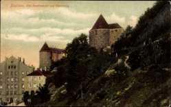 Postcard Bautzen in der Lausitz, alte Stadtmauer am Eselsberg