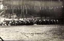 Foto Ak Altengrabow Möckern in Sachsen Anhalt, Soldaten auf Pferden
