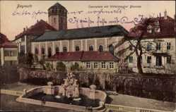 Postcard Bayreuth in Oberfranken, Opernplatz mit Wittelsbacher Brunnen