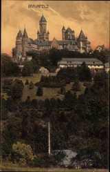 Postcard Braunfels im Lahn Dill Kreis, Ansicht vom Schloss, Wiederaufbau 1837 bis 1873