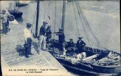 Postcard Au bord de l'Océan, Type de Pêcheurs, Le Petit Mousse, Fischer
