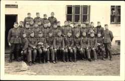 Foto Ak Bialka Polen, Junge Wehrmachtsoldaten in Uniformen, Gruppenfoto