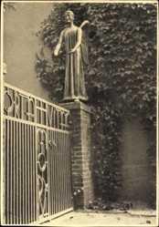Postcard Marienthal Hamminkeln am Niederrhein, Friedhofstor mit dem Engel