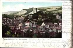 Postcard Sonnenberg Wiesbaden in Hessen, Blick über die Dächer der Stadt