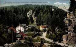 Postcard Schüttersmühle Pottenstein im Kreis Bayreuth Oberfranken, Blick auf den Ort