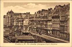 Postcard Frankfurt Main, Die ehemalige Judengasse, Synagoge, Wohnhäuser