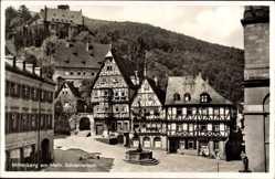 Postcard Miltenberg am Main in Unterfranken Bayern, Schnatterloch, Fachwerk
