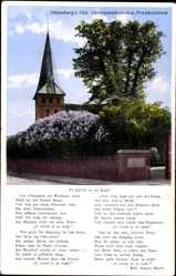 Postcard Oldenburg in Niedersachsen, Gertrudenkapelle und Friedhofslinde, Gedicht