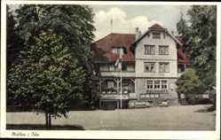 Postcard Mülben Waldbrunn im Necker Odenwald Kreis, Pension Gasthof Reinacher